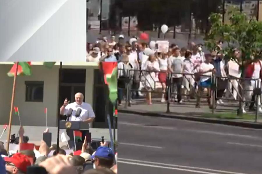 """""""Це не моя вина! Мені довелося покликати вас на допомогу!"""" – Лукашенко виступає перед прихильниками"""